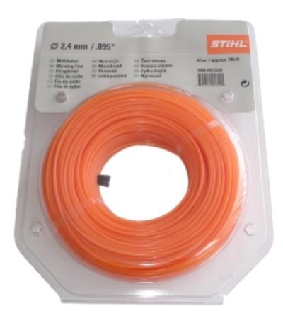 stihl m hfaden 2 4 mm orange 15 2 meter motorsense rasentrimmer ebay. Black Bedroom Furniture Sets. Home Design Ideas